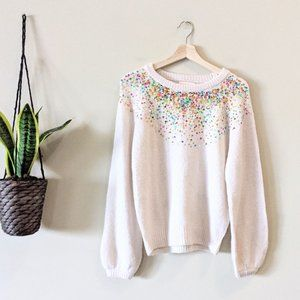 Dreamers Sequin Sparkle Pullover Sweater
